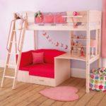 кровать-диван для девочки