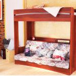 кровать-чердак с диваном цветной