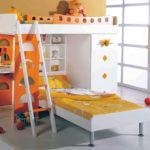 кровать-чердак с диваном раскладывать в детскую комнату