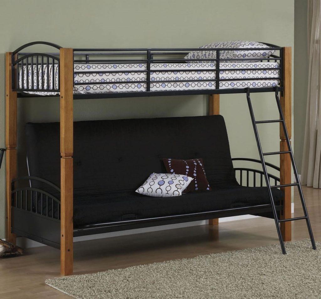 Классическая кровать-чердак с диваном