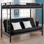 кровать-чердак с диваном черным