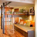 кровать-диван оранжевый