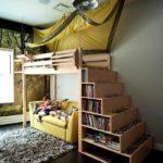 кровать-диван со ступенями