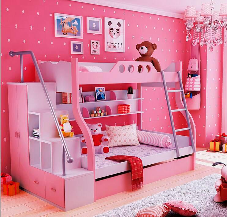 двухуровневая кровать для девочки