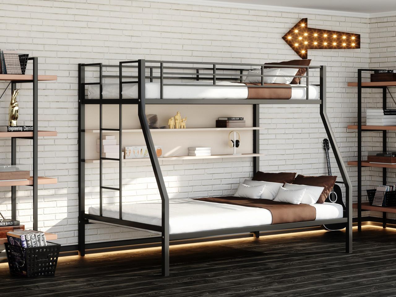 кровать двухъярусная металлическая идеи оформление