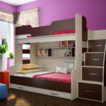 коричневая кровать для девочки