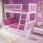 сиреневая кровать для девочки