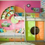 цветная кровать для девочки