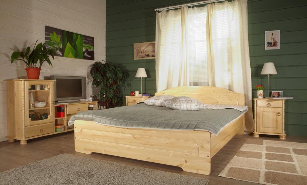 двуспальная кровать из массива дизайн идеи