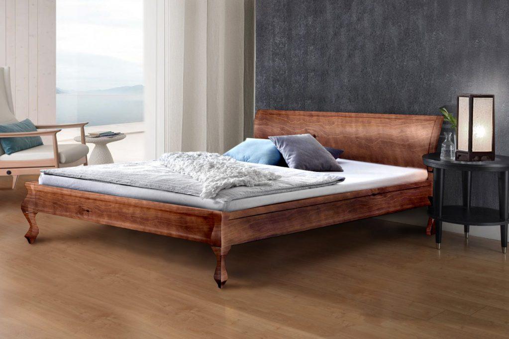 двуспальная кровать из массива фото дизайн