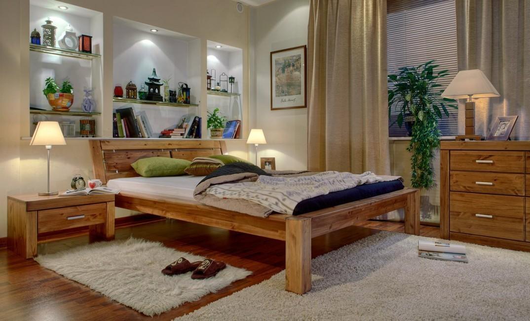 двуспальная кровать из массива фото дизайна