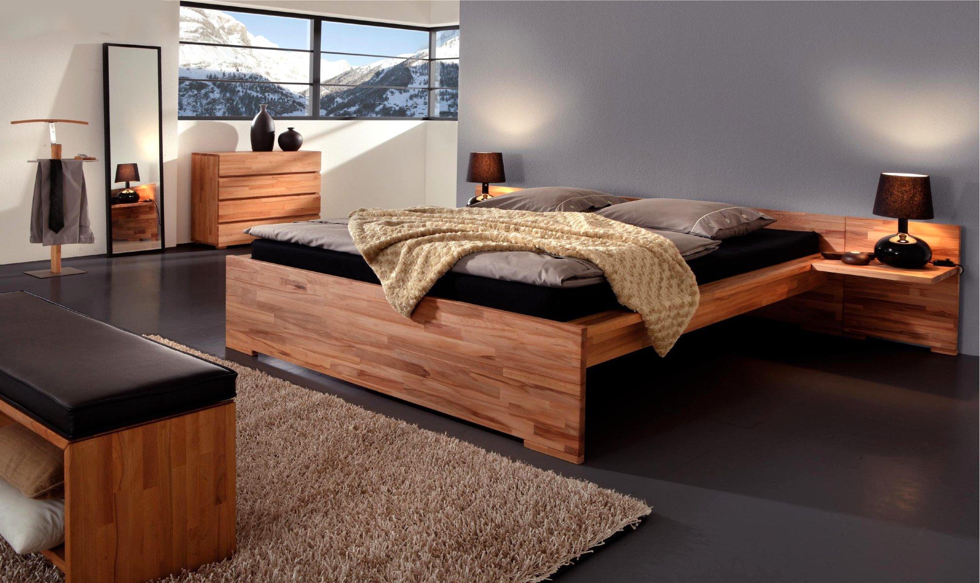 двуспальная кровать из массива фото идеи