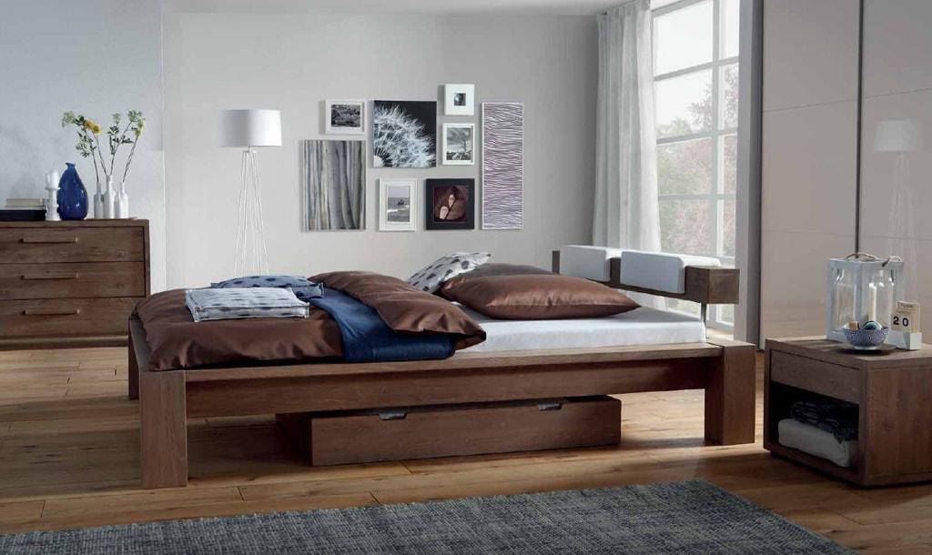 двуспальная кровать из массива идеи дизайн