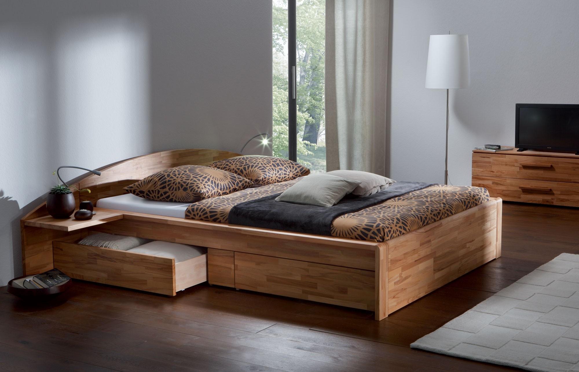 двуспальная кровать из массива идеи дизайна