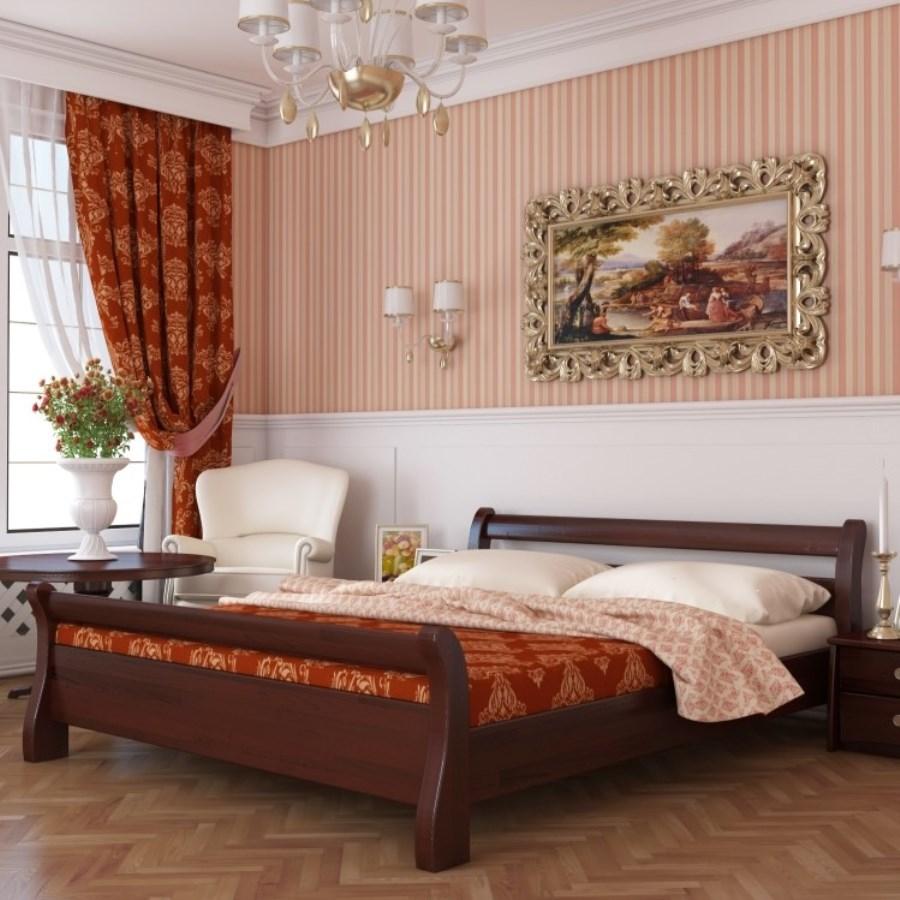 двуспальная кровать из массива идеи фото