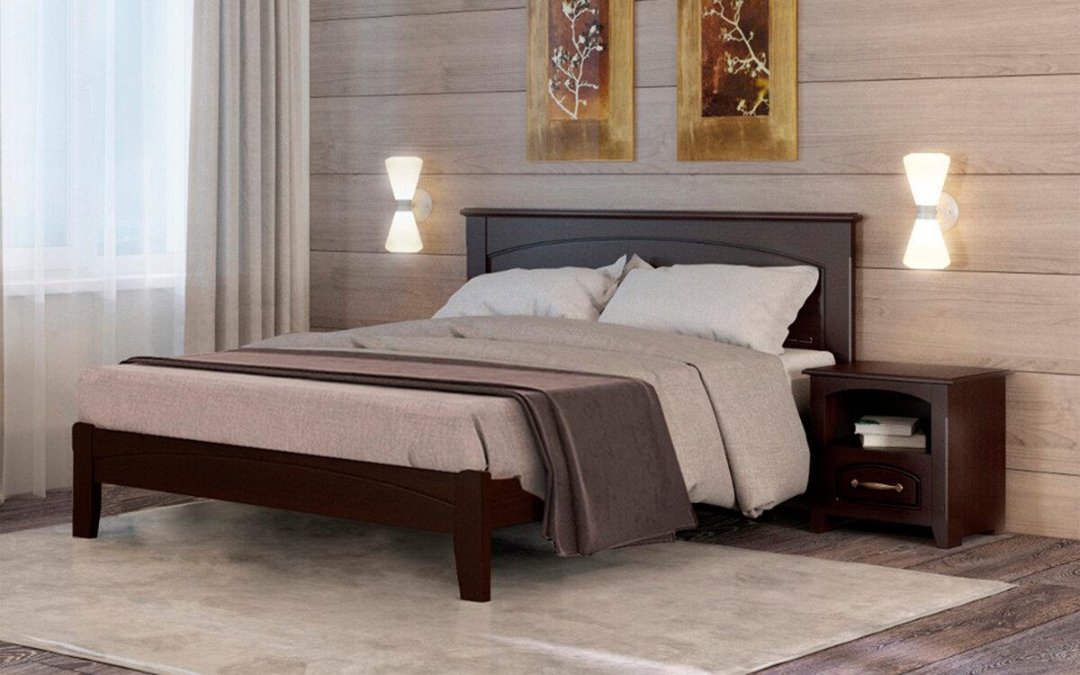 двуспальная кровать из массива варианты
