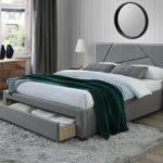 двуспальная кровать с ящиками идеи дизайн
