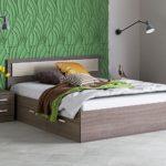двуспальная кровать с ящиками декор