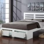 двуспальная кровать с ящиками фото декор