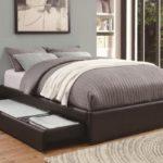 двуспальная кровать с ящиками фото