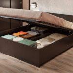 двуспальная кровать с ящиками фото оформления