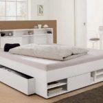 двуспальная кровать с ящиками варианты