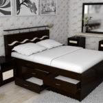 двуспальная кровать с ящиками фото вариантов