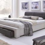 двуспальная кровать с ящиками виды фото