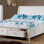двуспальная кровать с ящиками виды идеи