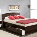 двуспальная кровать с ящиками идеи виды