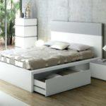 двуспальная кровать с ящиками идеи фото