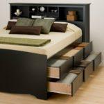 двуспальная кровать с ящиками дизайн