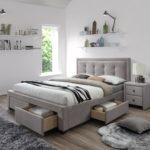 двуспальная кровать с ящиками фото дизайн