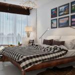 двуспальные кровати из массива дерева идеи дизайна