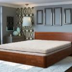 двуспальные кровати из массива дерева декор фото