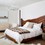 двуспальные кровати из массива дерева идеи декор