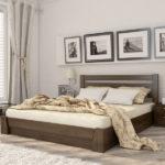 двуспальные кровати из массива дерева оформление фото