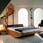 двуспальные кровати из массива дерева оформление идеи
