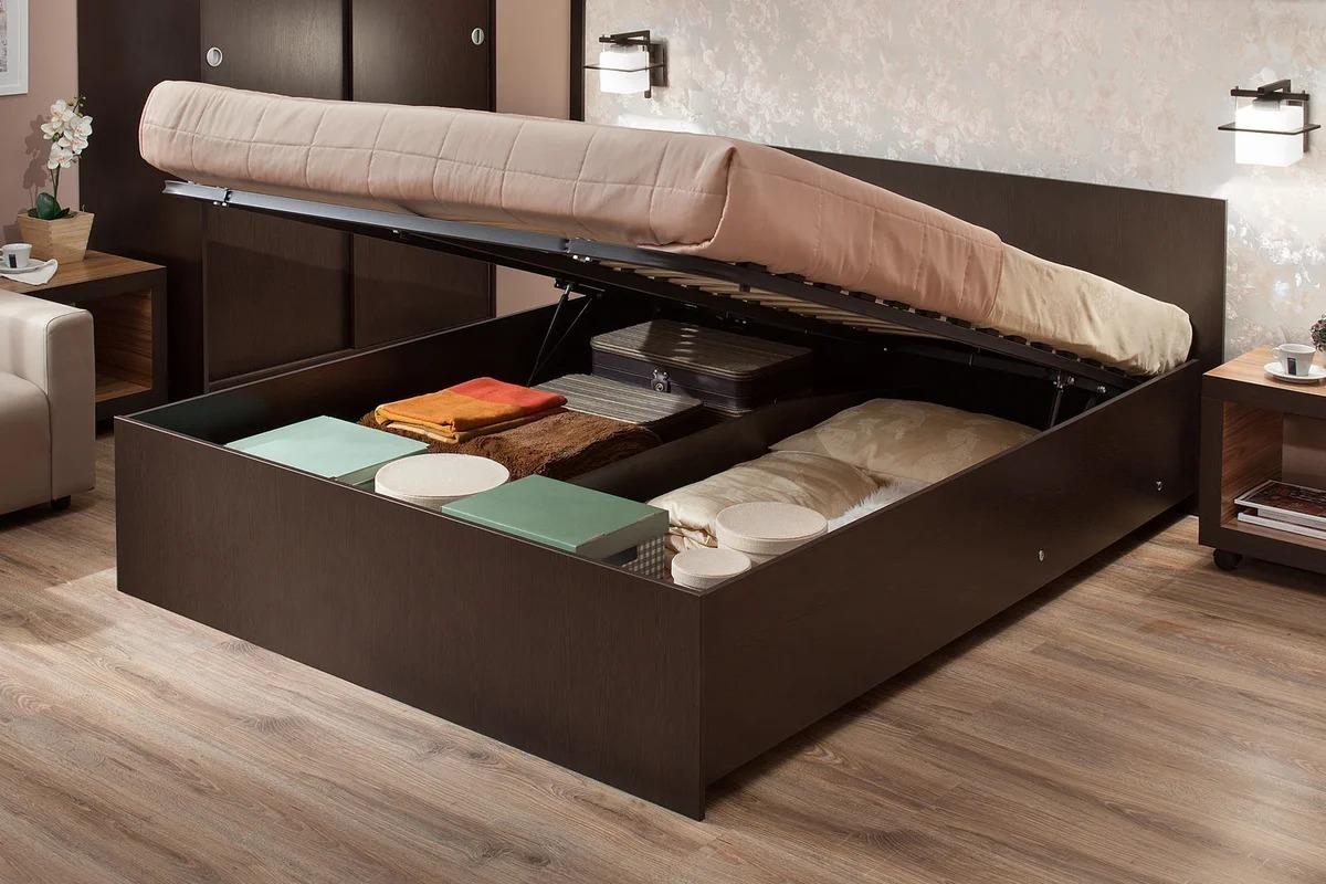 двуспальные кровати с ящиками аскона