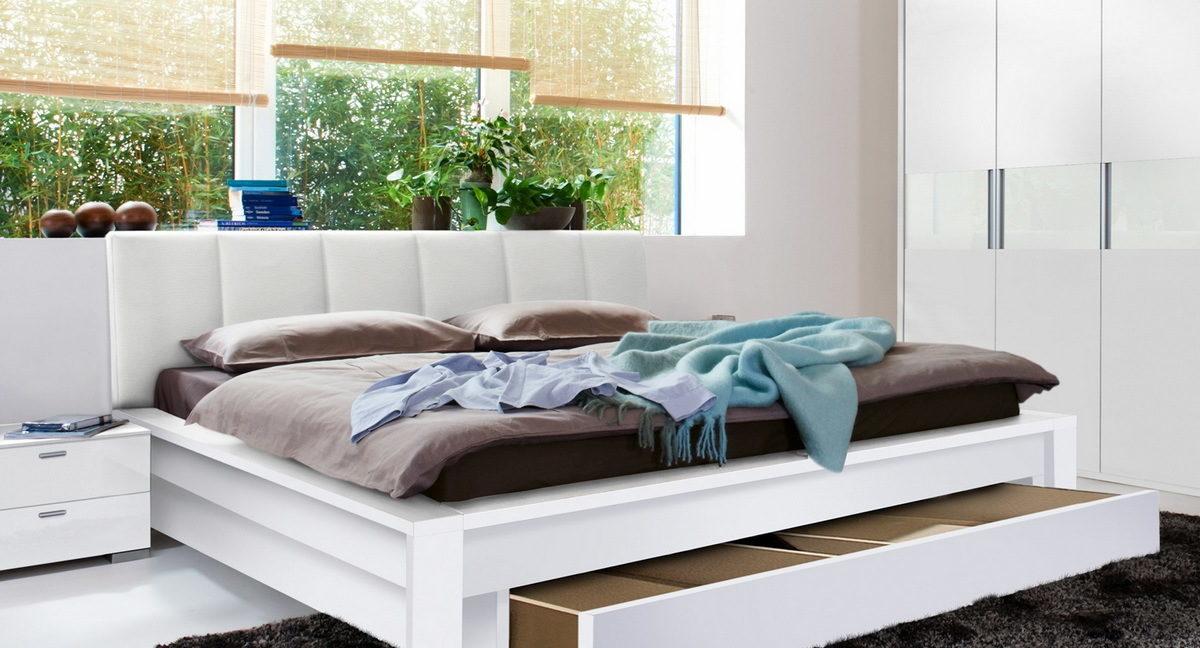 двуспальные кровати с ящиками