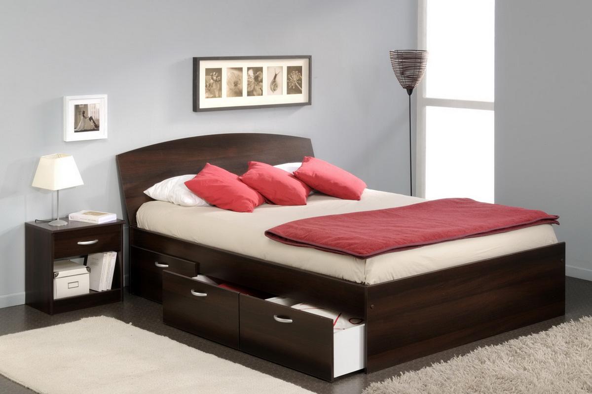 двуспальные кровати с ящиками идеи дизайн