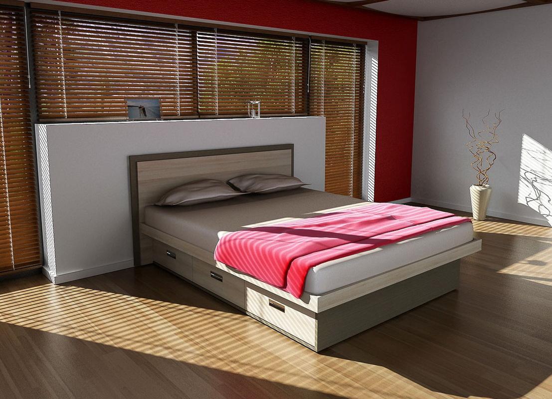 двуспальные кровати с ящиками идеи дизайна