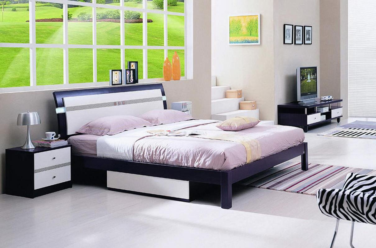 двуспальные кровати с ящиками идеи