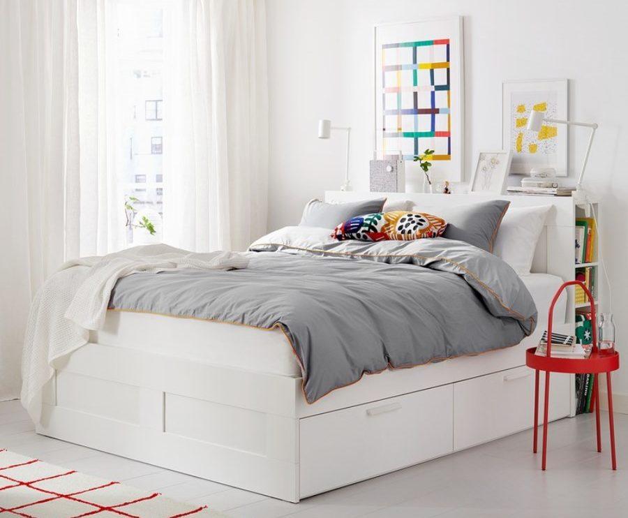 двуспальные кровати с ящиками икеа