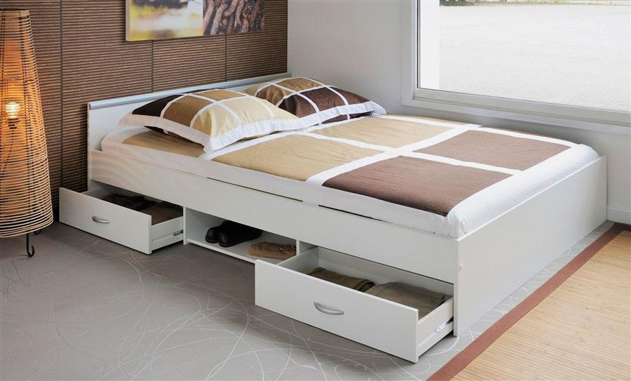двуспальные кровати с ящиками оформление