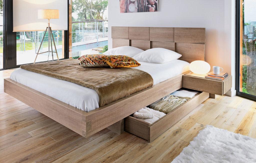 двуспальные кровати с ящиками варианты