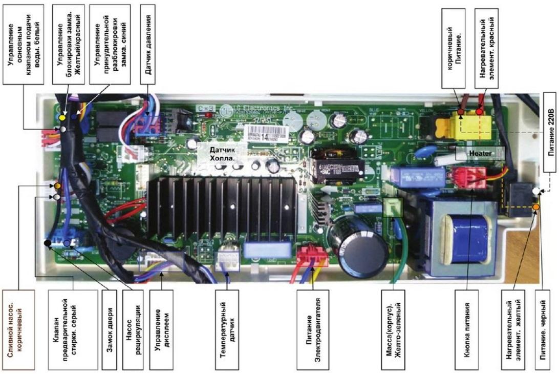 электросхема LG