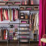 большая гардеробная с местом под обувь
