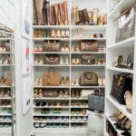 полки в гардеробной для обуви