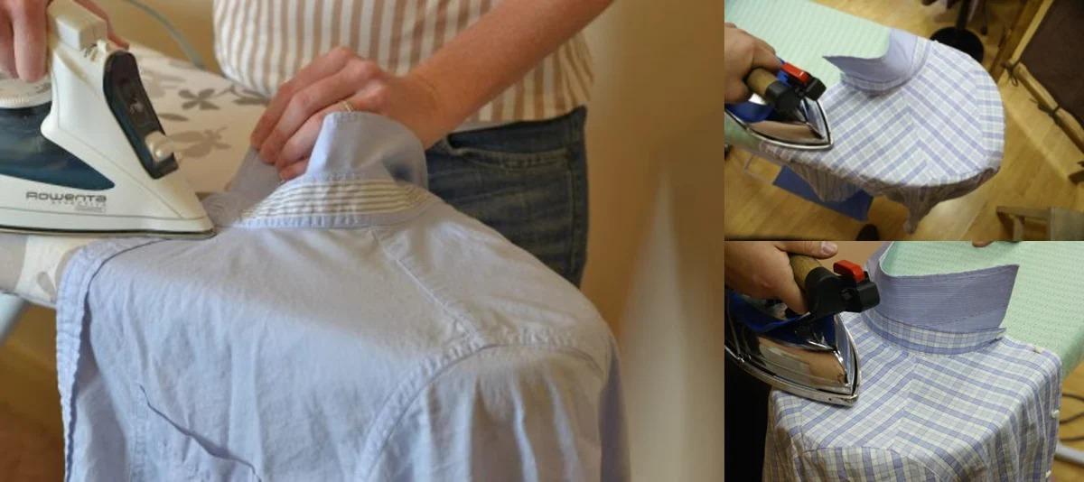 глажка рубашки с коротким рукавом